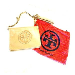 Tory Burch nude clutch and shoulder bag